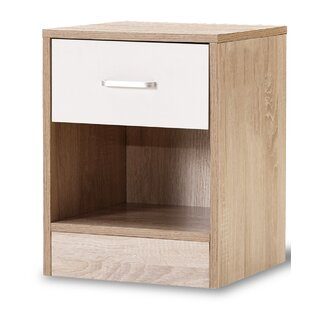 Great Price Maciejewski 1 Drawer Nightstand by Ebern Designs