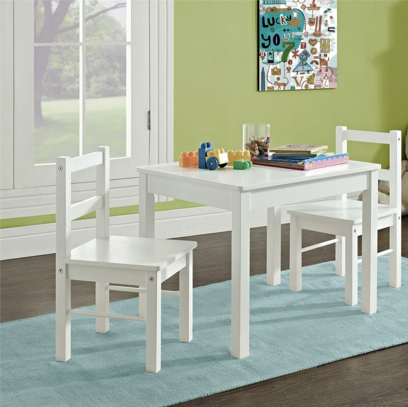 Suri Kids 3 Piece Table And Chair Set
