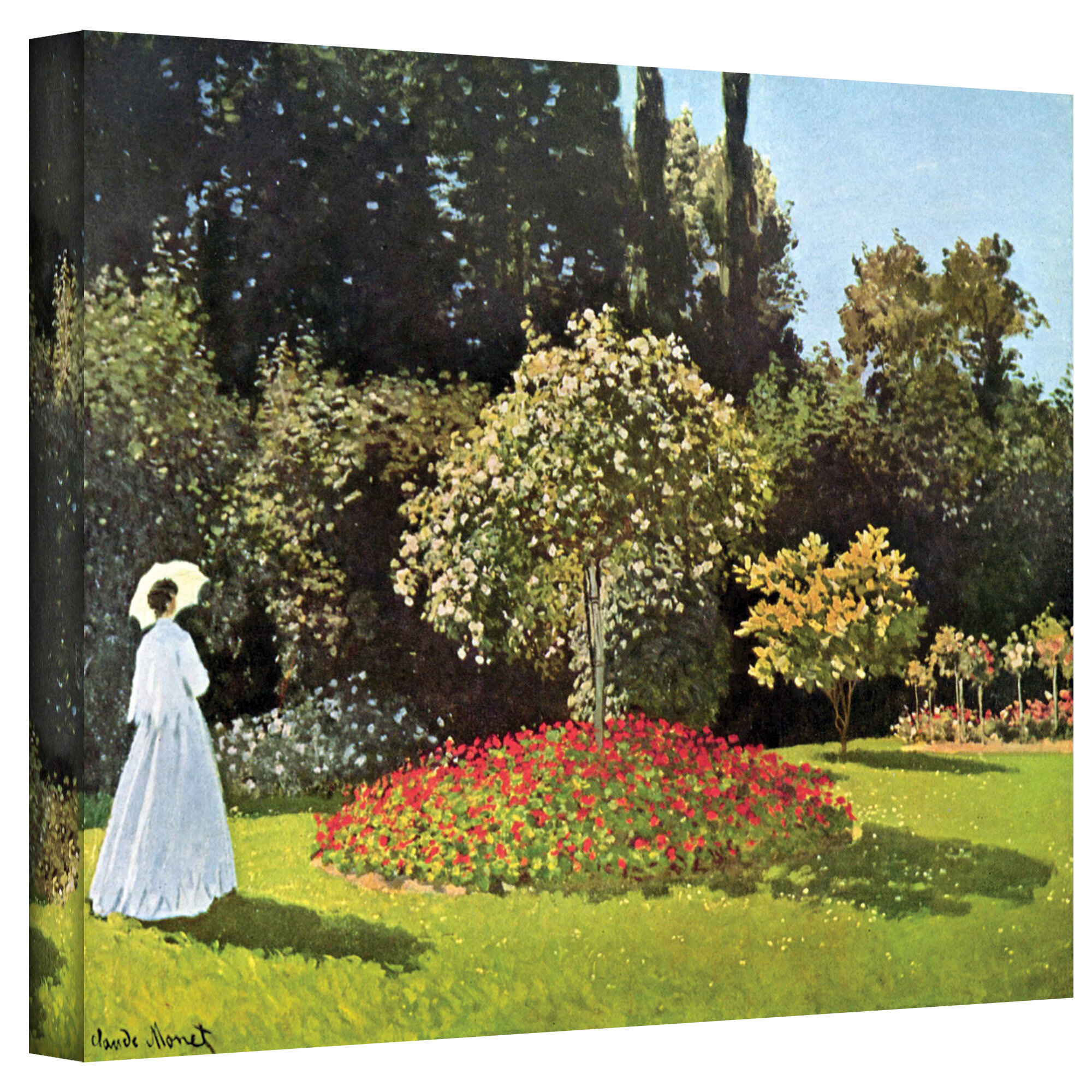 Artwall Woman In Park With Poppies By Claude Monet Painting Print On Wrapped Canvas Reviews Wayfair Ca