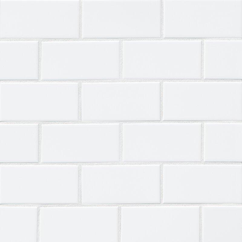 Bedrosians Nantucket 3 Quot X 6 Quot Ceramic Subway Tile In Gloss