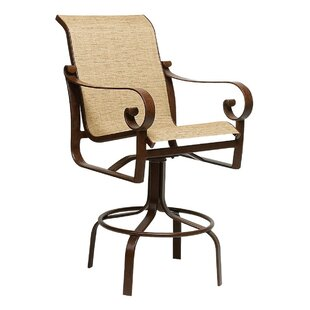 Woodard Belden Swivel Patio Bar Stool