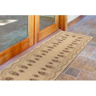 Deck Tashi Ivory/Brown Indoor/Outdoor Area Rug