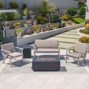 Shevlin Outdoor 5 Piece Sofa Seating Group with Cushions by Orren Ellis
