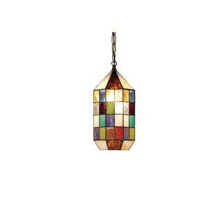 Meyer Panel Lantern 1-Light Geometric Pendant by Meyda Tiffany