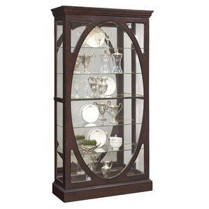 Lighted Curio Cabinet by Three Posts