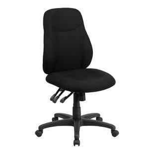 Symple Stuff Multi-Functional Ergonomic Black Mid-Back Desk Chair
