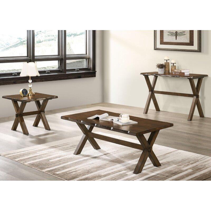 Foundry Select Esmeralda 3 Piece Coffee Table Set Wayfair