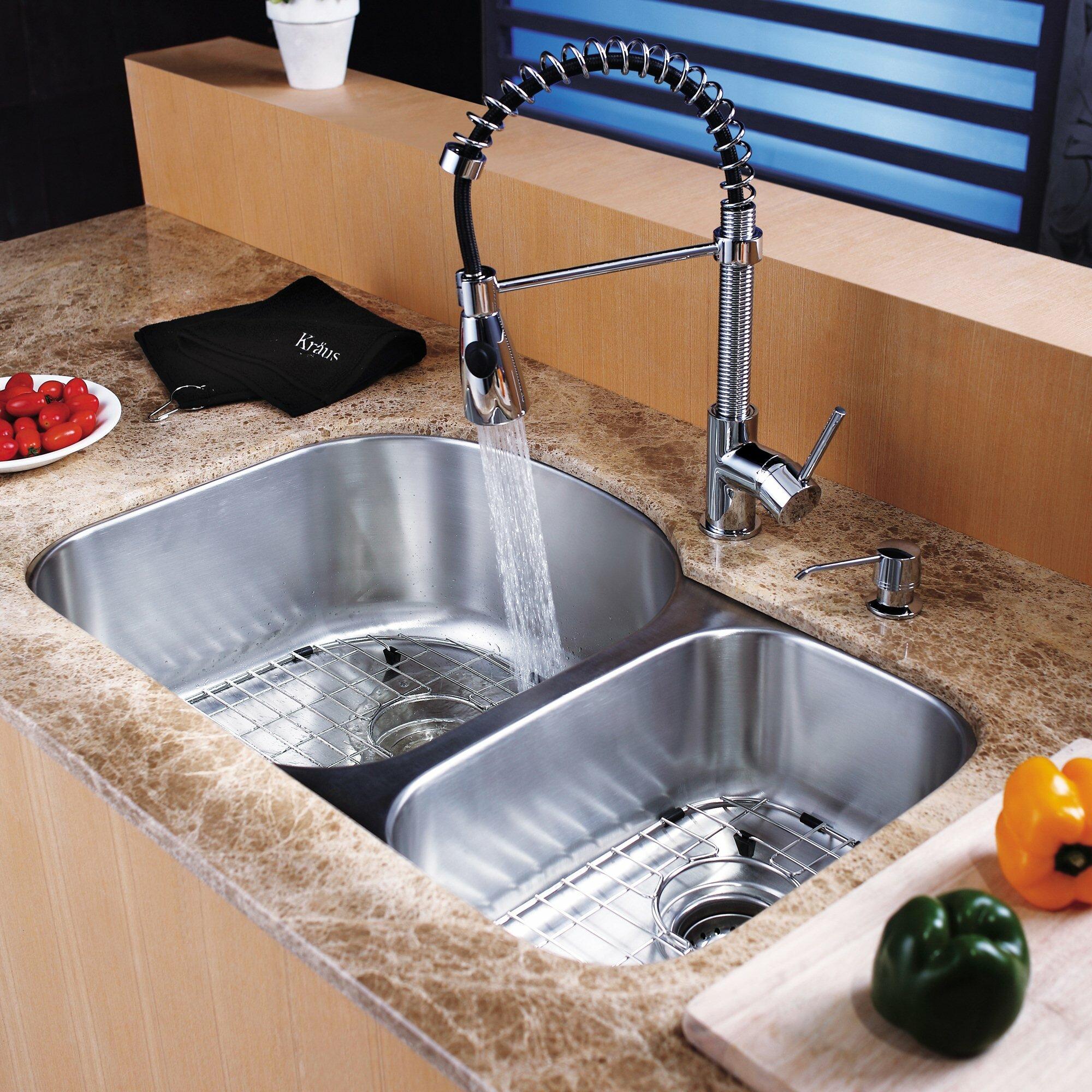 kitchen sink soap dispenser square kbu23kpf1612ksd30ssch kraus 315