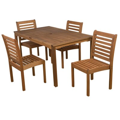 Trym Outdoor 5 Piece Dining Set by Highland Dunes Cool