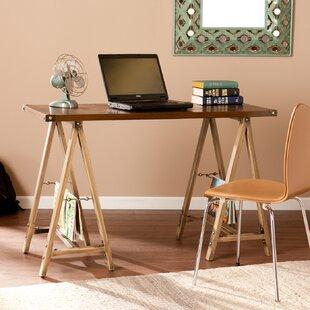bright and modern driftwood desk. Earleville Sawhorse Writing Desk Trestle  Wayfair