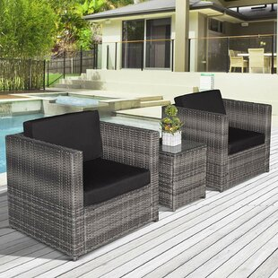 Alyce 2 Seater Rattan Conversation Set By Sol 72 Outdoor