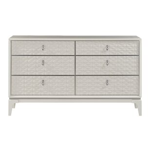 House of Hampton Amelio 6 Drawer Double Dres..