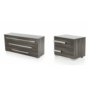 Butner 3 Drawer Dresser with 2 Nightstands by Wade Logan