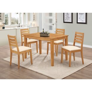 Damm Dining Set With 4 Chairs By Natur Pur