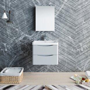 Senza Tuscany 24 Wall-Mounted Single Bathroom Vanity Set with Medicine Cabinet By Fresca