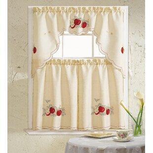 Apples 3 Piece Kitchen Curtain Set by Daniels Bath