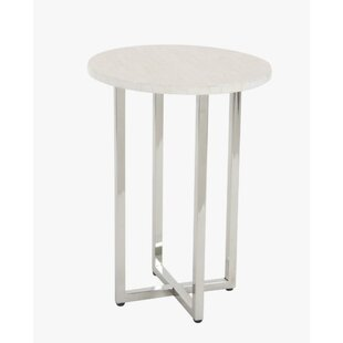 Jaime Stainless Steel End Table by Ivy Bronx