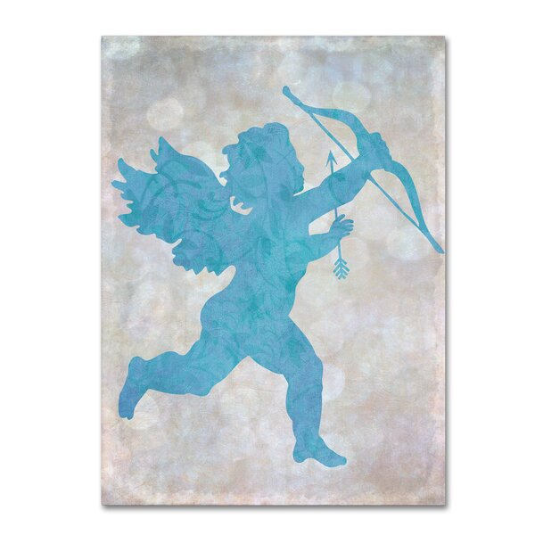 Winston Porter Cupid Blue Graphic Art Print On Wrapped Canvas Wayfair