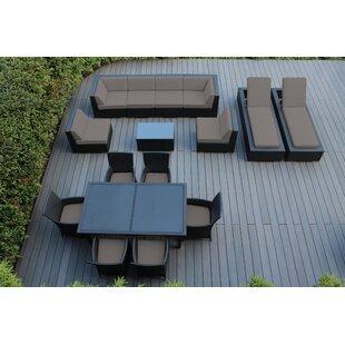 Ohana 16 Piece Complete Patio Set with Sunbrella Cushions by Ohana Depot