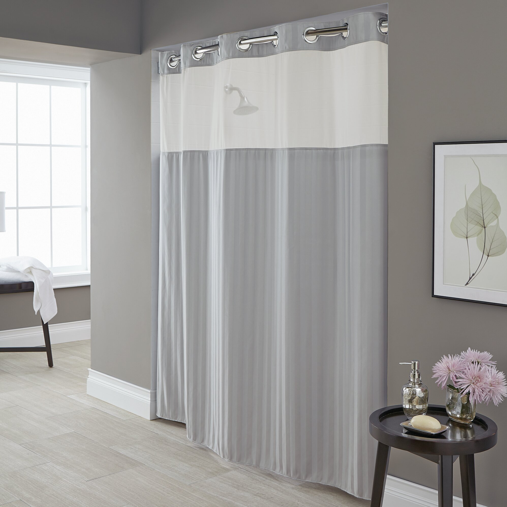 Hookless Park Avenue Stripe Single Shower Curtain Reviews