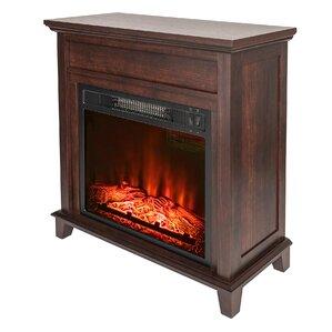 wood mantel electric fireplace