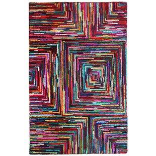 Brilliant Ribbon Hand Woven Cotton Multi Colored Area Rug