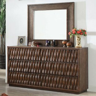 Barba 6 Drawer Double Dresser with Mirror