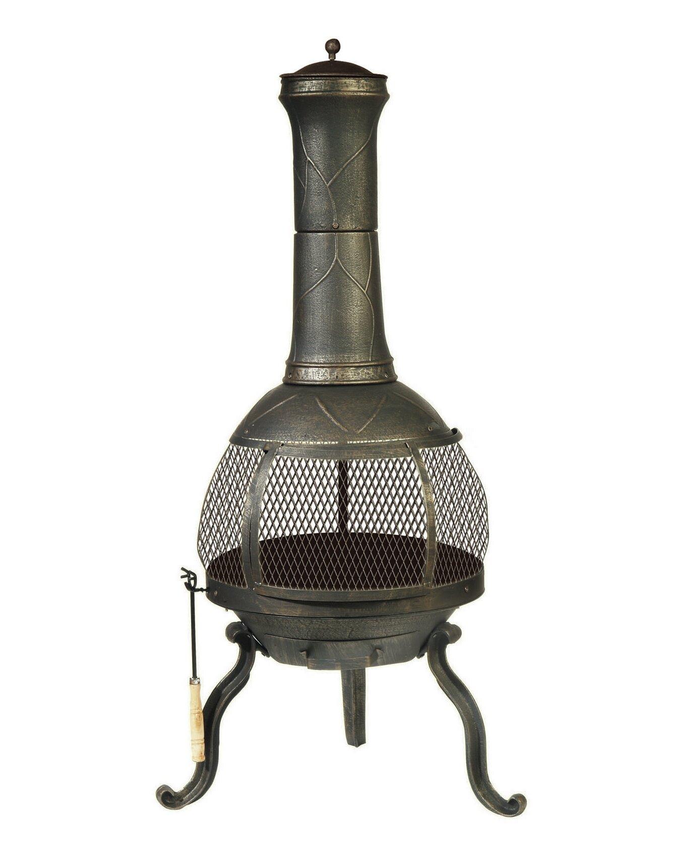 Ophelia Co Nyora Cast Iron And Steel Wood Burning Chiminea