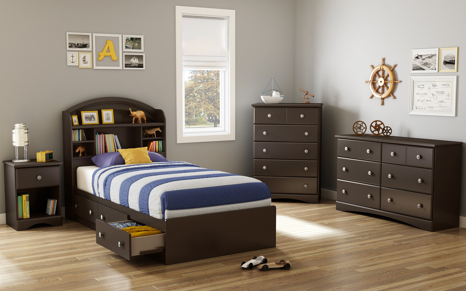 Charmant Morning Dew Platform Configurable Bedroom Set