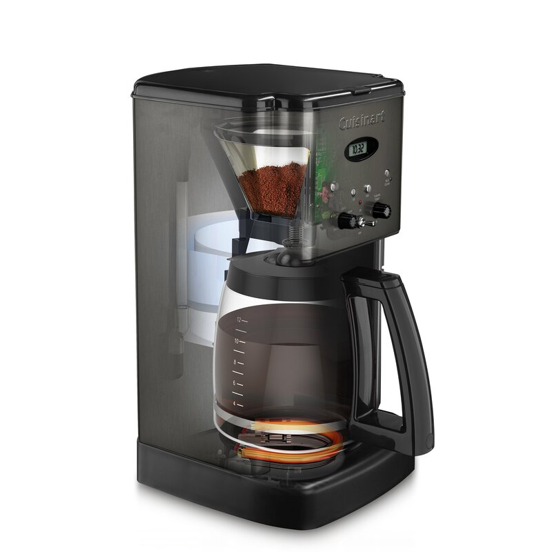 COFFEE MAKER CUISINART Brew Central 12 Cups Drip Basket Filter Glass Carafe