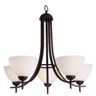 TransGlobe Lighting Contemporary 5-Light Shaded Chandelier
