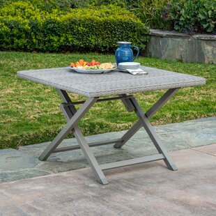 Spector 4 Person Folding Wicker Dining Table