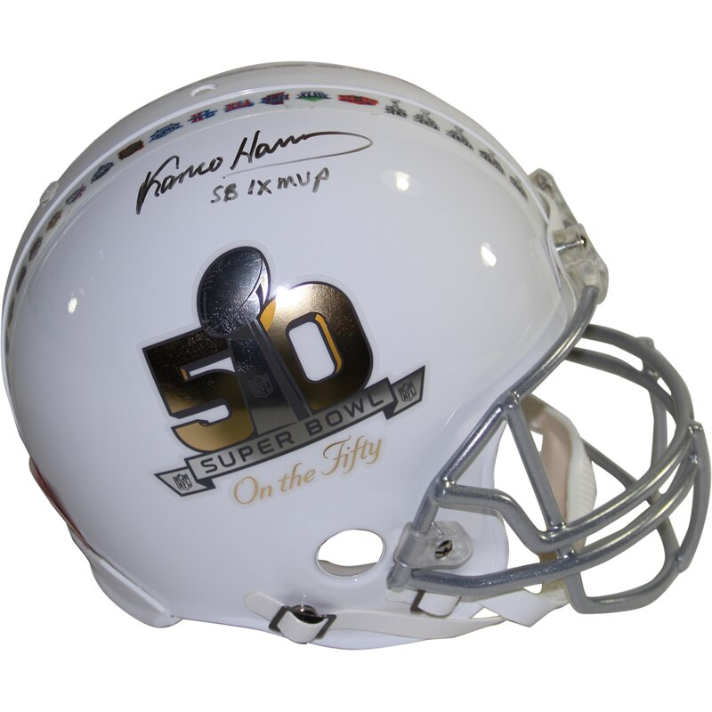 b781a1249 Steiner Sports Pittsburgh Steelers Franco Harris Signed Riddell Super Bowl  Helmet