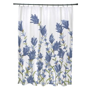 Alcott Hill Orchard Lane Polyester Lavender Floral Shower Curtain