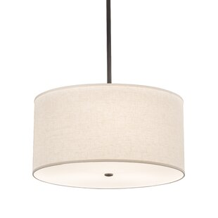 Rosecliff Heights Luyster 3-Light Drum Pendant