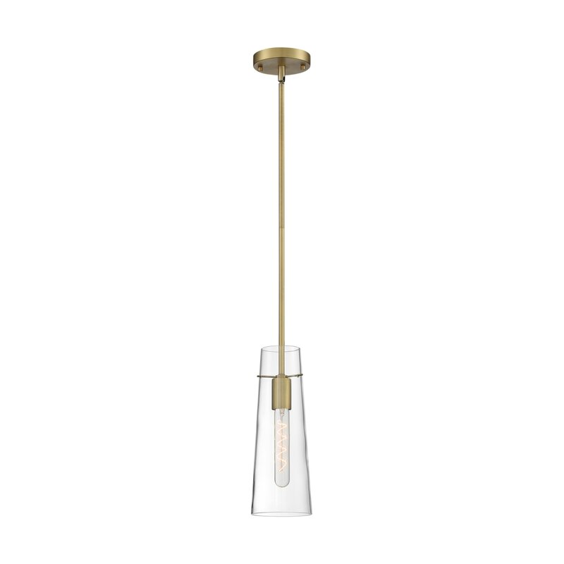 Wrought Studio Huma 1 Light Single Cylinder Pendant Wayfair