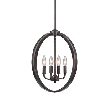 Laurel Foundry Modern Farmhouse Tensed 4-Light Globe Chandelier