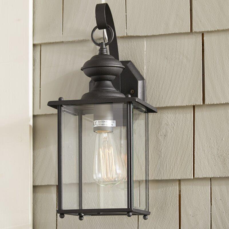 Alcott Hill Carmen 1 Light Outdoor Wall Lantern Amp Reviews