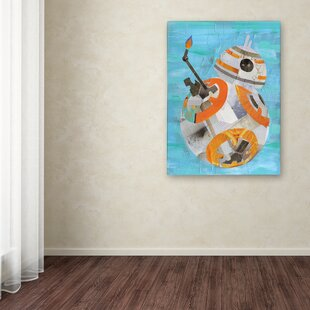 Bb Graphic Art Print On Wrapped Canvas