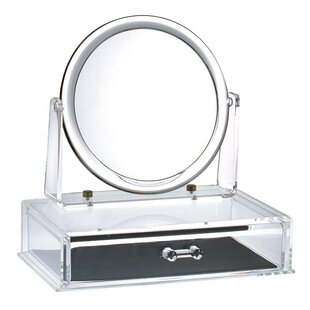 Affordable Price Magnifying Makeup Mirror with Drawer By Rebrilliant