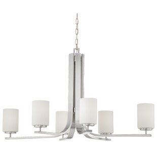 Winston Porter Wunderlich 6-Light Shaded Chandelier