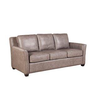 Kristian Leather Sofa by Loon Peak
