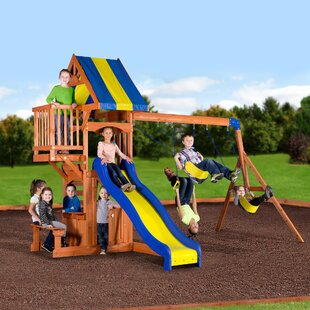 Backyard Discovery Peninsula All Cedar Swing Set