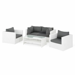 Osterhoudt 4 Seater Rattan Effect Corner Sofa Set By Sol 72 Outdoor