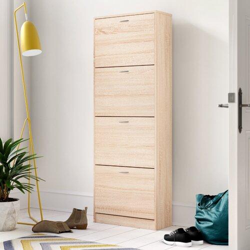 Schuhkipper Mainz-2 mit 4 Kippladen All Home Farbe: Sonoma Eiche | Flur & Diele > Schuhschränke und Kommoden > Schuhkommoden | All Home
