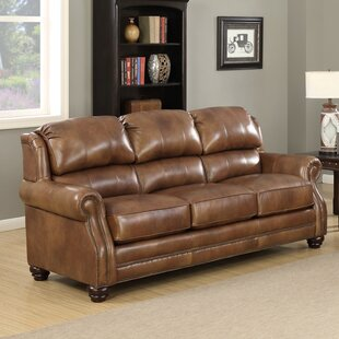 Forester Wingback Leather Sofa
