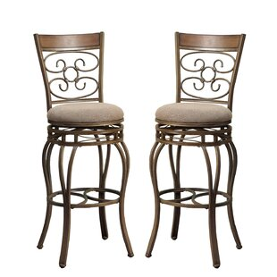 Bobkona Prisca 29 Swivel Bar Stool (Set of 2)