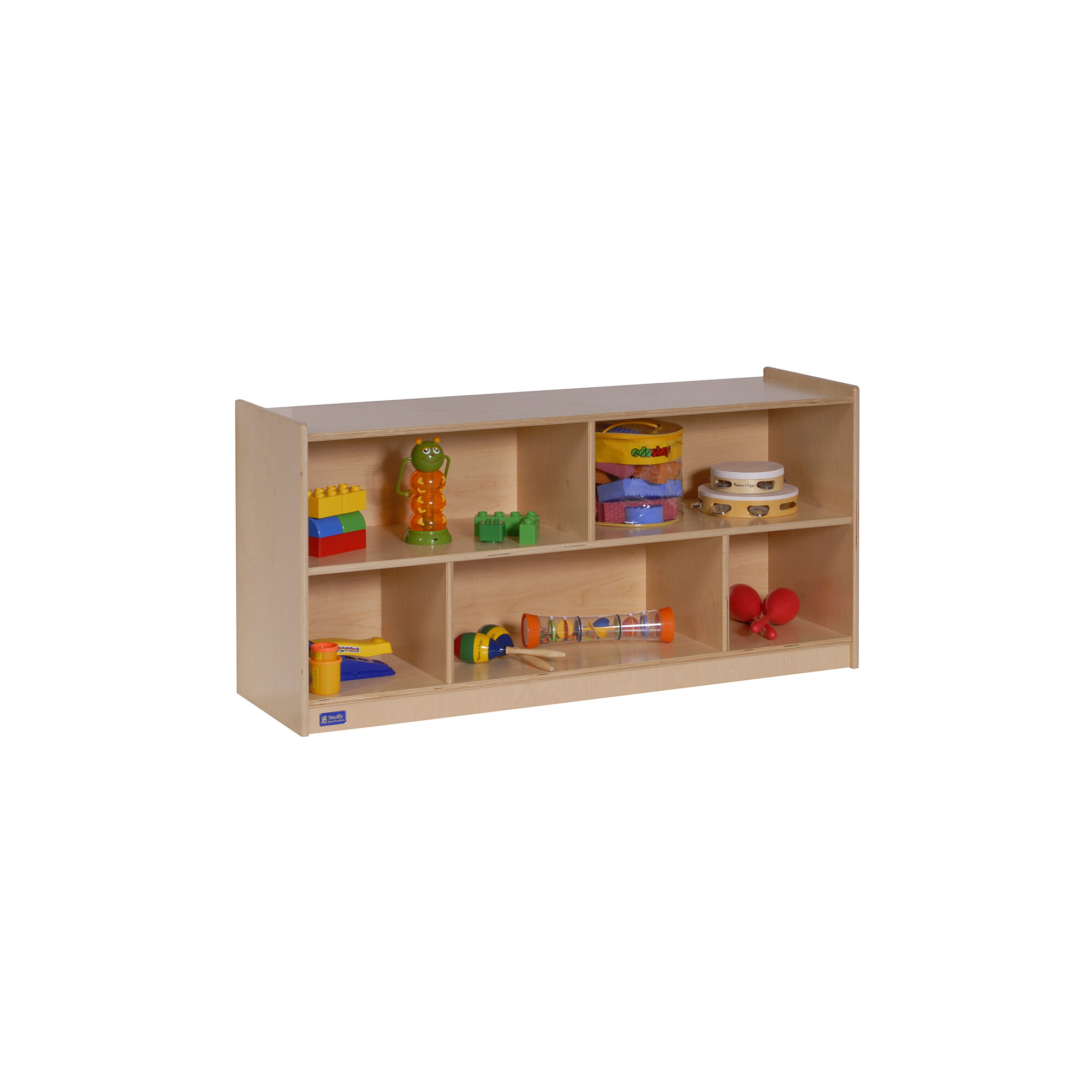 Angeles Toddler 5 Compartment Shelving Unit With Casters Wayfair