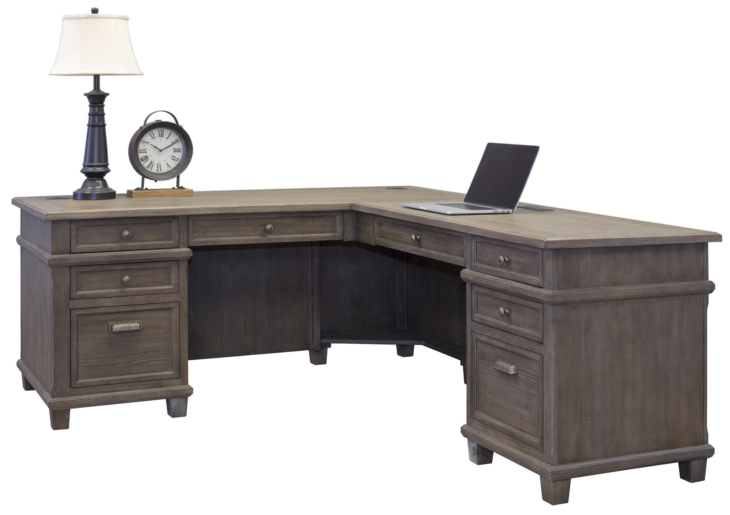 Larissa Solid Wood L Shape Executive Desk