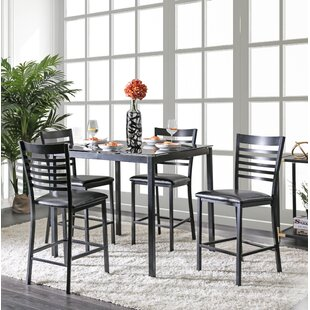 Bhamidipati Pub 5 Piece Dining Set by Ebern Designs 2019 Coupon